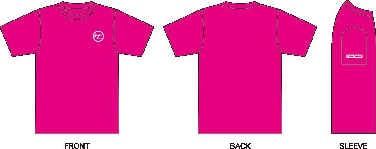ザンジバルTシャツホットピンク図