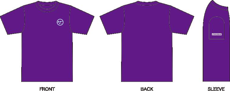 ザンジバルTシャツ紫