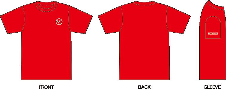 ザンジバルTシャツレッド